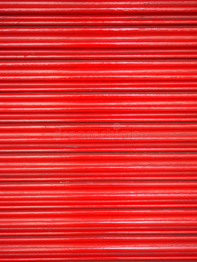 Rojo de acero de la puerta imagenes de archivo