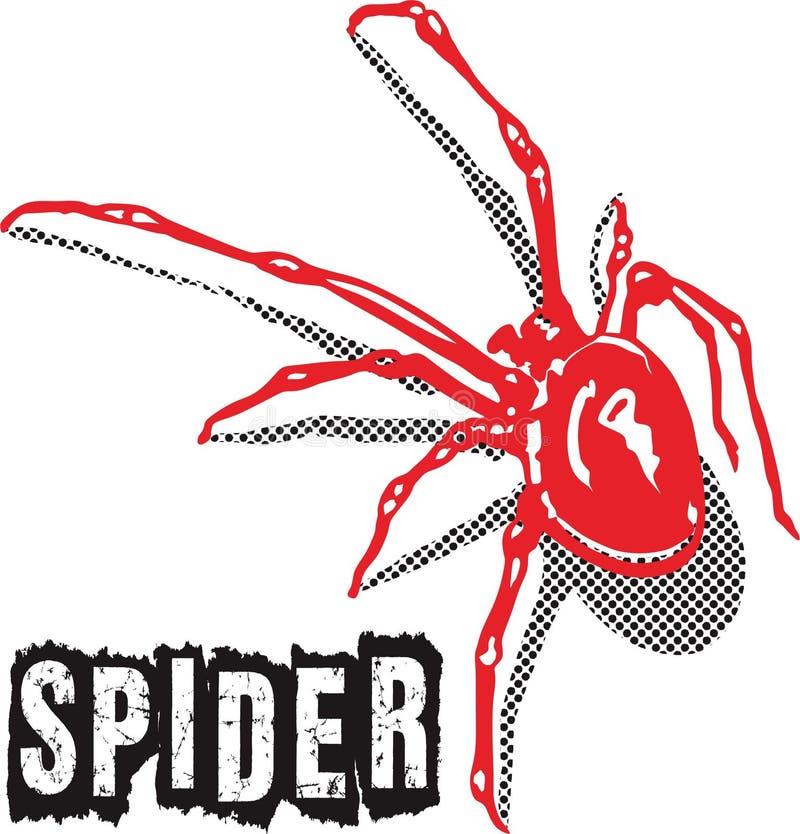 Rojo de la araña fotos de archivo