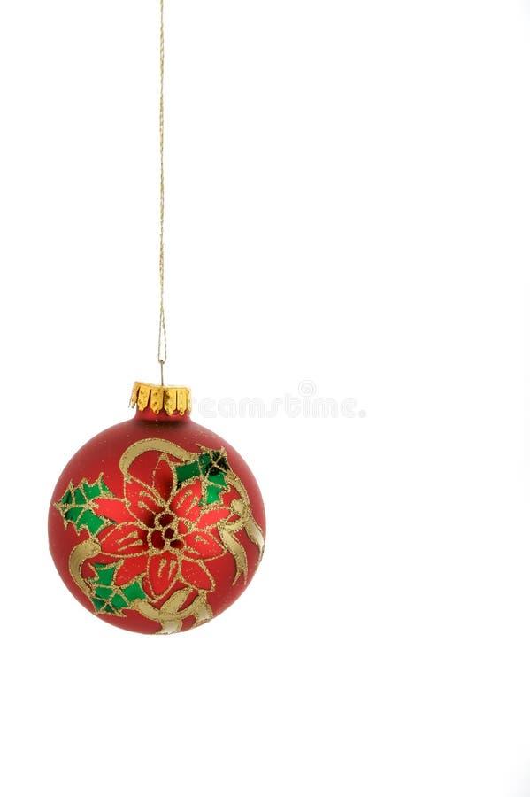 Rojo de la decoración de la Navidad foto de archivo libre de regalías