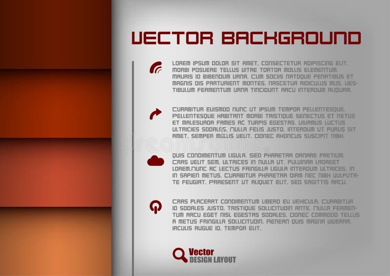 Rojo de la disposición de diseño libre illustration