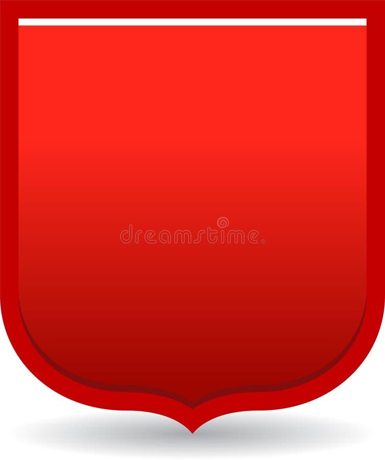 Rojo de la insignia del escudo ilustración del vector