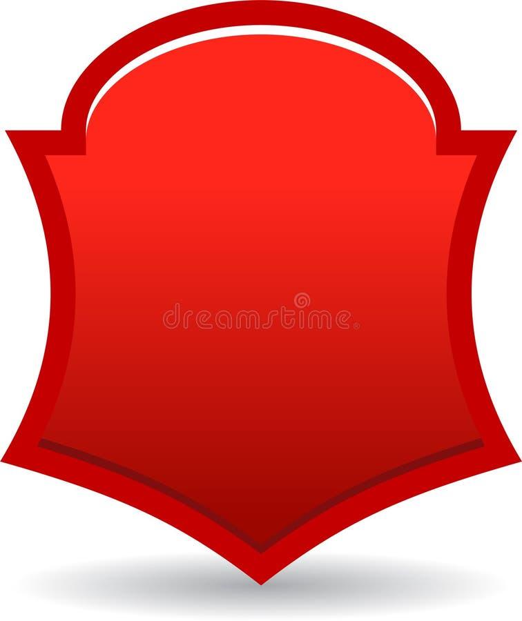Rojo de la insignia del escudo libre illustration