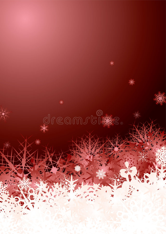 Rojo de la pila del copo de nieve libre illustration