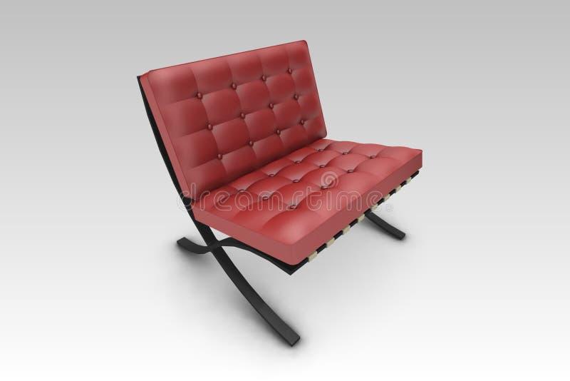 Rojo de la silla del diseñador stock de ilustración