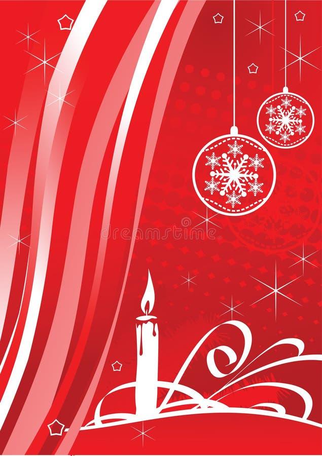 rojo de la vela del fondo de la Navidad del vector stock de ilustración