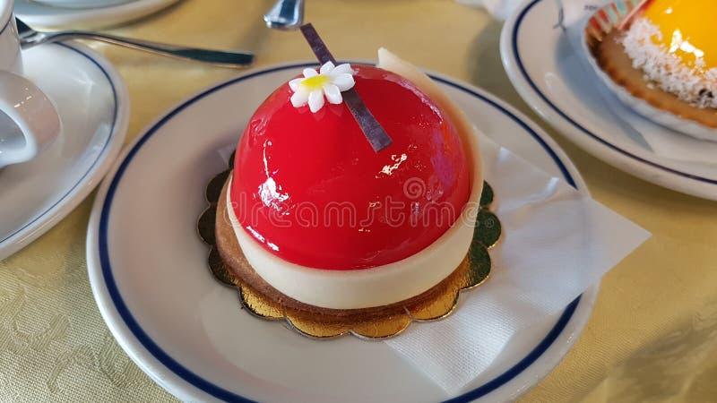 Rojo de los pasteles foto de archivo