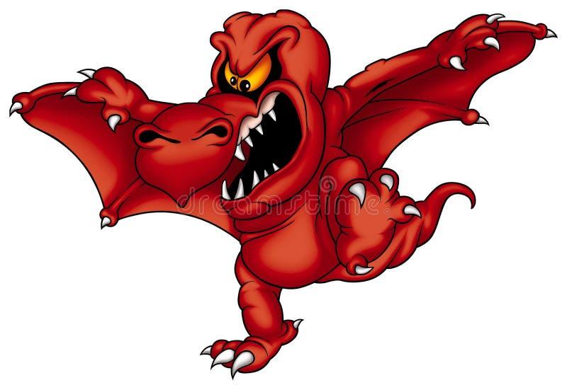 Rojo de Sterax del dragón ilustración del vector