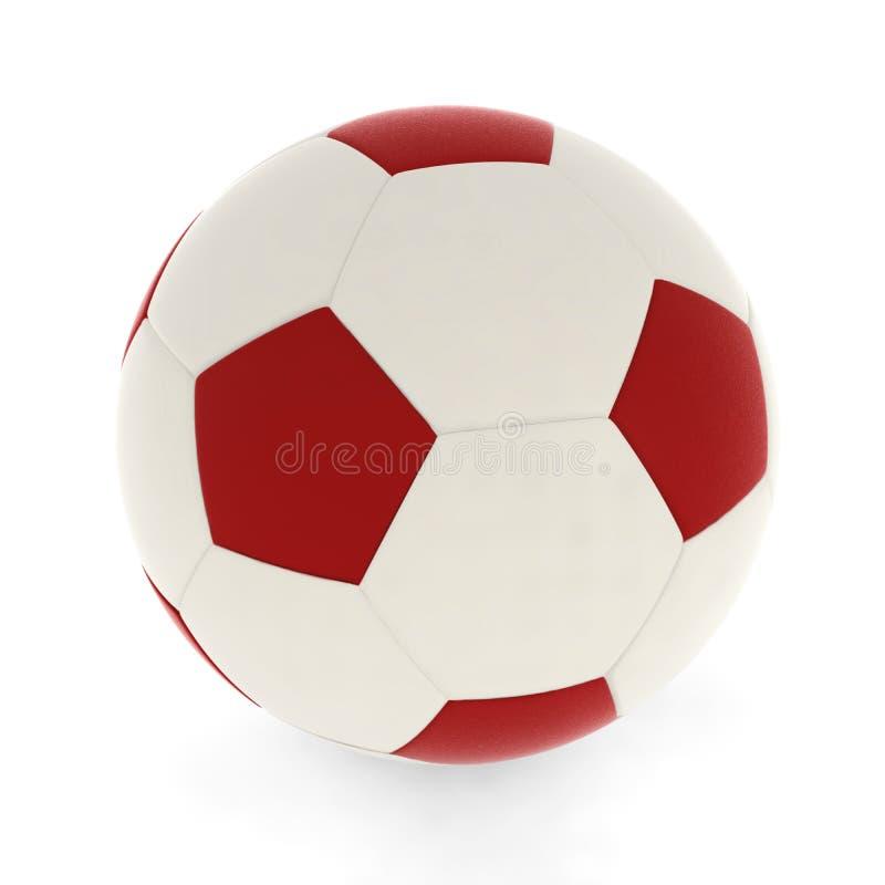 Rojo del balón de fútbol ilustración del vector