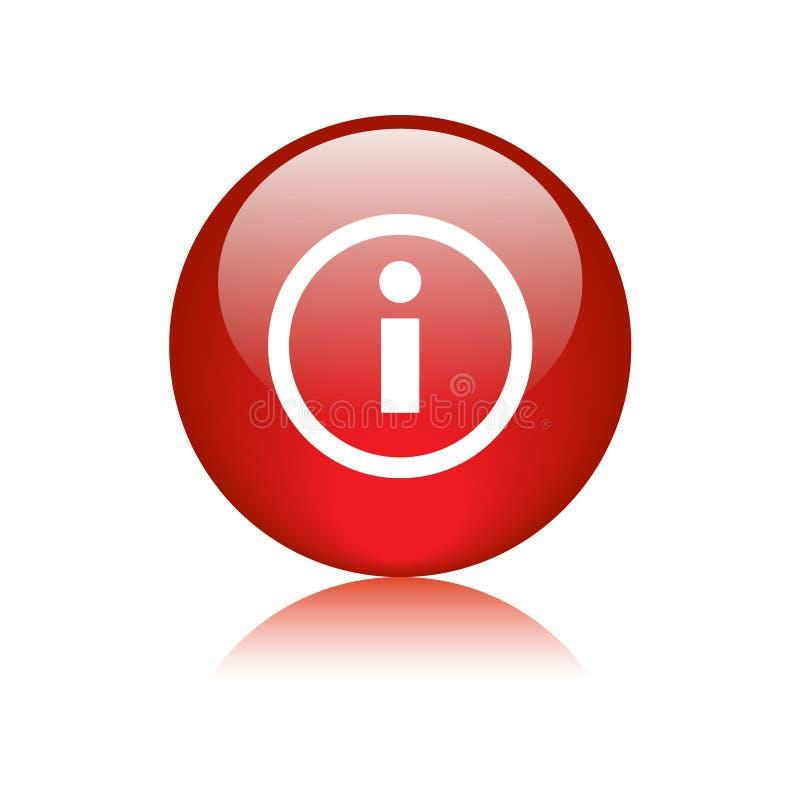 Rojo del botón del web del icono de la información stock de ilustración