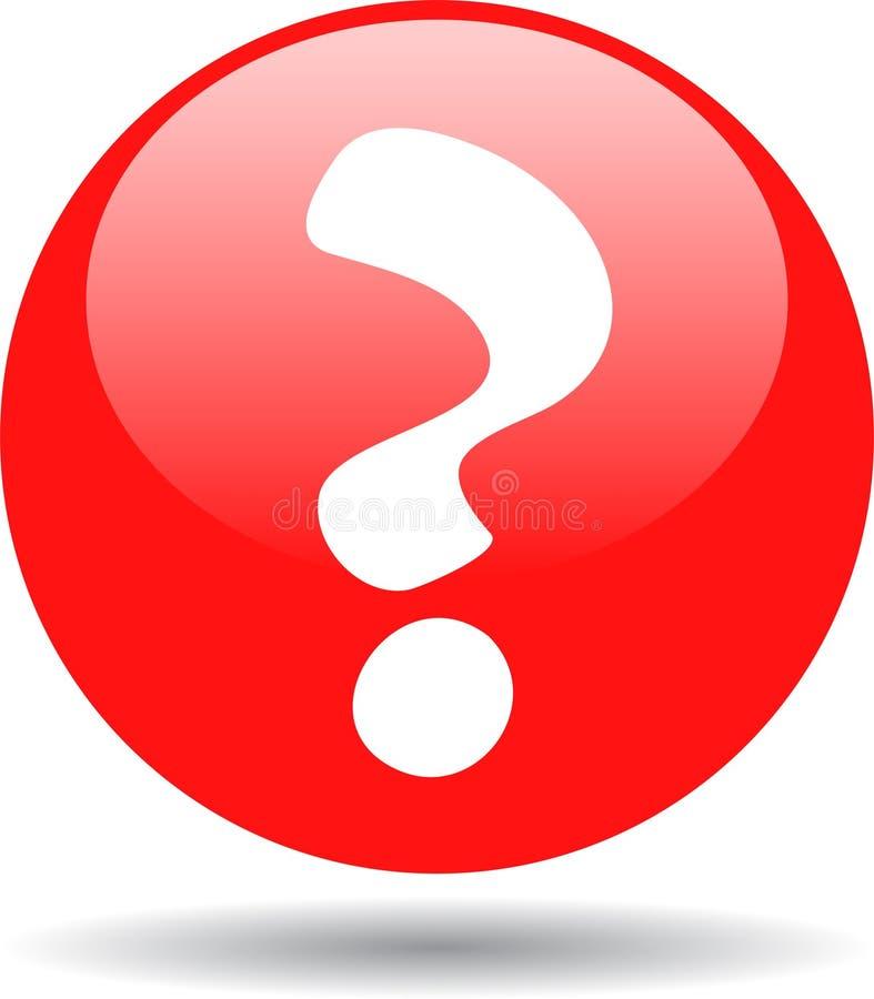 Rojo del botón del web del signo de interrogación libre illustration