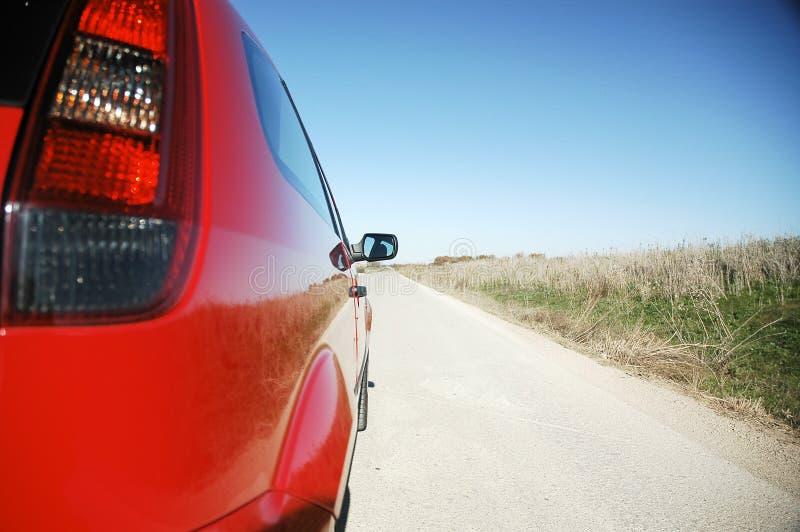 Rojo del coche foto de archivo