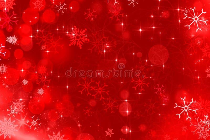 Rojo del fondo de la Navidad stock de ilustración
