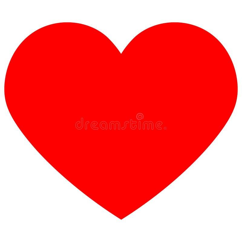 Rojo del icono del coraz?n Elementos del dise?o para el d?a del ` s de la tarjeta del d?a de San Valent?n libre illustration