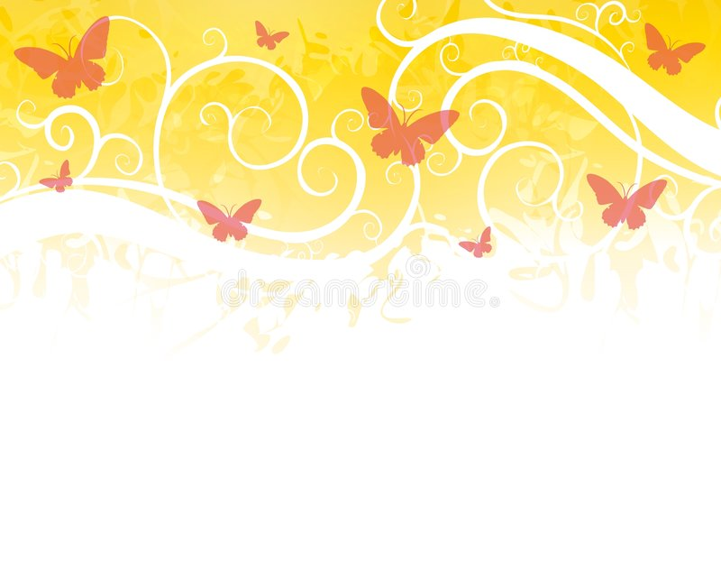 Rojo del oro de la frontera de la mariposa libre illustration