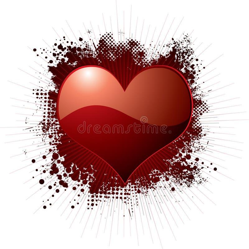Rojo del splat del amor libre illustration