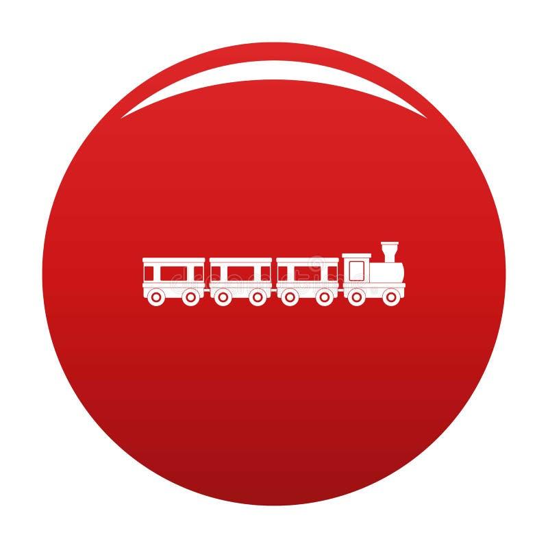 Rojo del vector del icono de los carros stock de ilustración