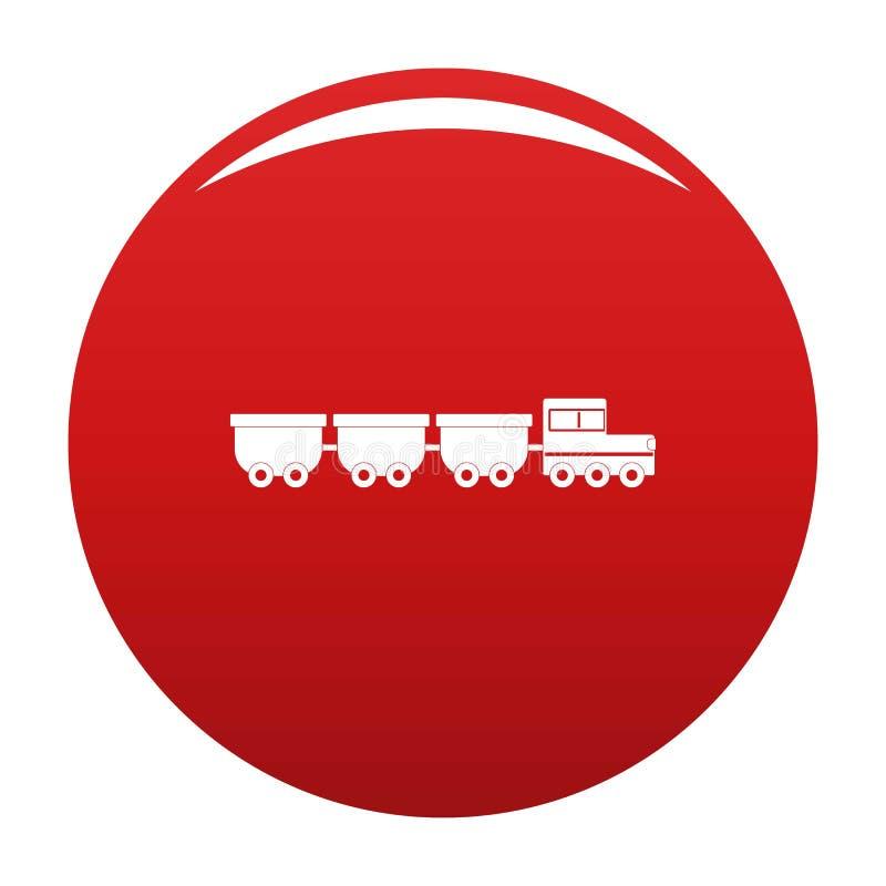 Rojo del vector del icono de los carros de la carga stock de ilustración