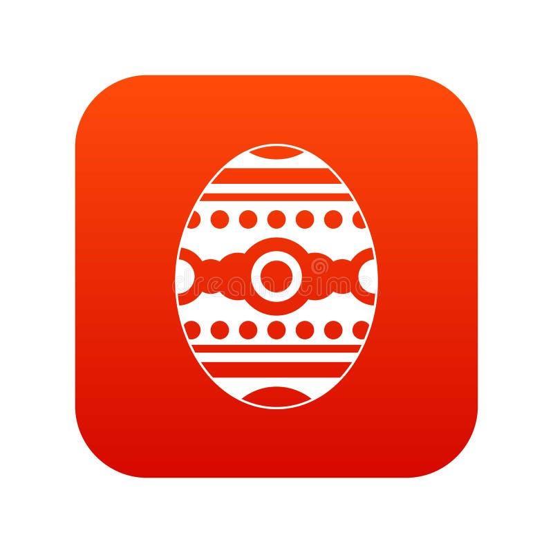 Download Rojo Digital De Pascua Del Icono Hermoso Del Huevo Ilustración del Vector - Ilustración de ornamento, saludo: 100525717