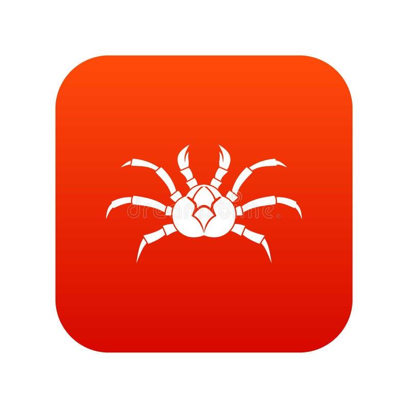 Download Rojo Digital Del Icono Del Cangrejo Ilustración del Vector - Ilustración de icono, invertebrado: 100525466