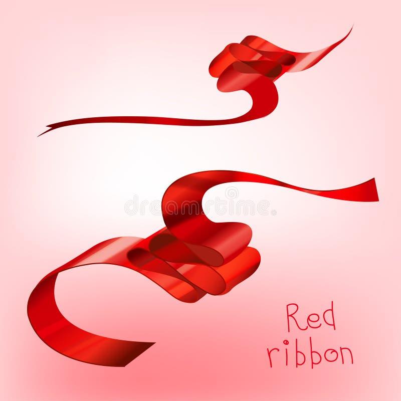Rojo encrespado cinta a libre illustration