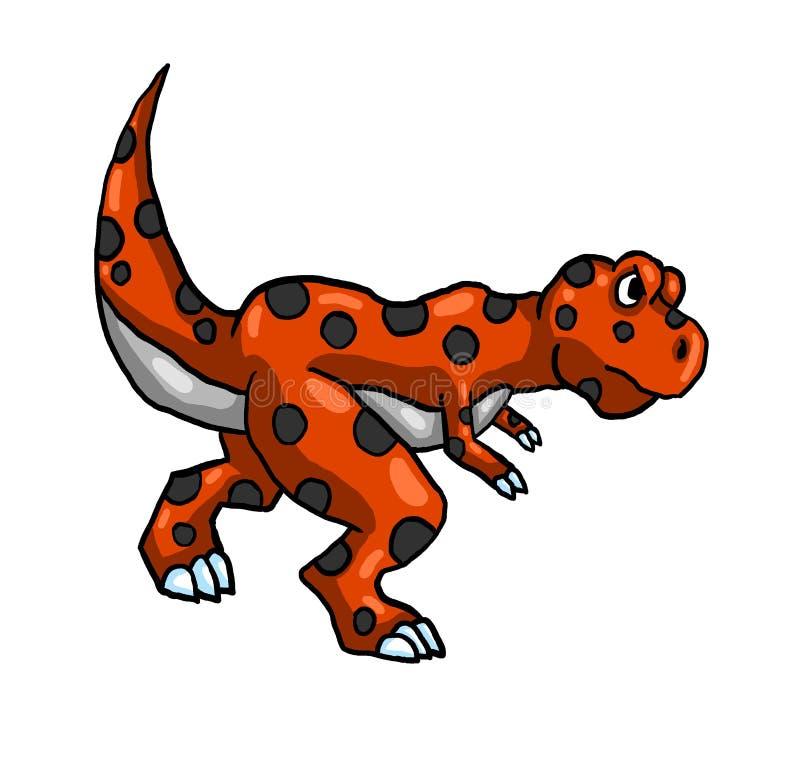Rojo enojado T Rex libre illustration