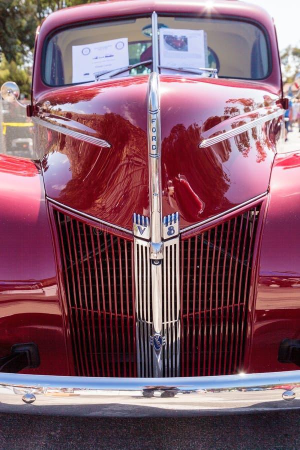 Rojo Ford Coupe 1940 imagen de archivo libre de regalías