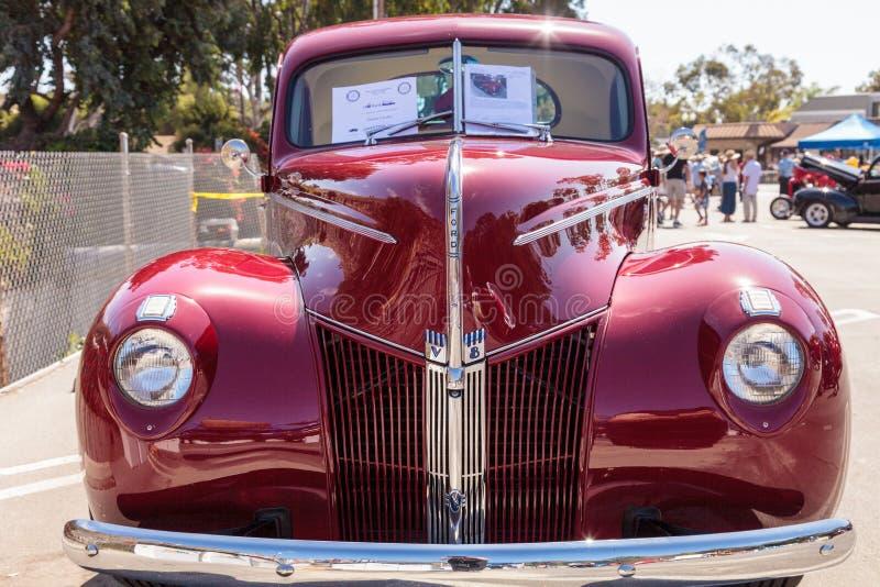 Rojo Ford Coupe 1940 fotografía de archivo