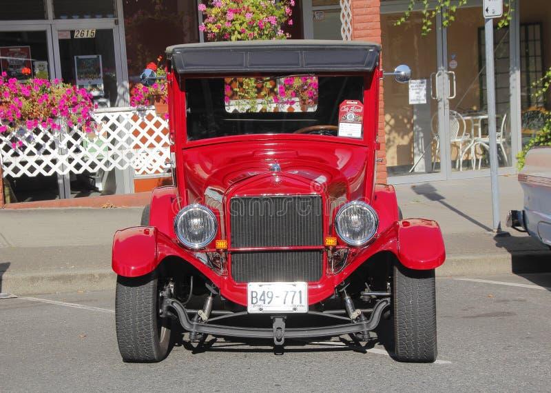 Rojo Ford Model T del vintage 1926 fotografía de archivo libre de regalías
