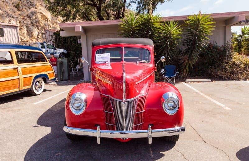 Rojo Ford Woody 1940 fotos de archivo