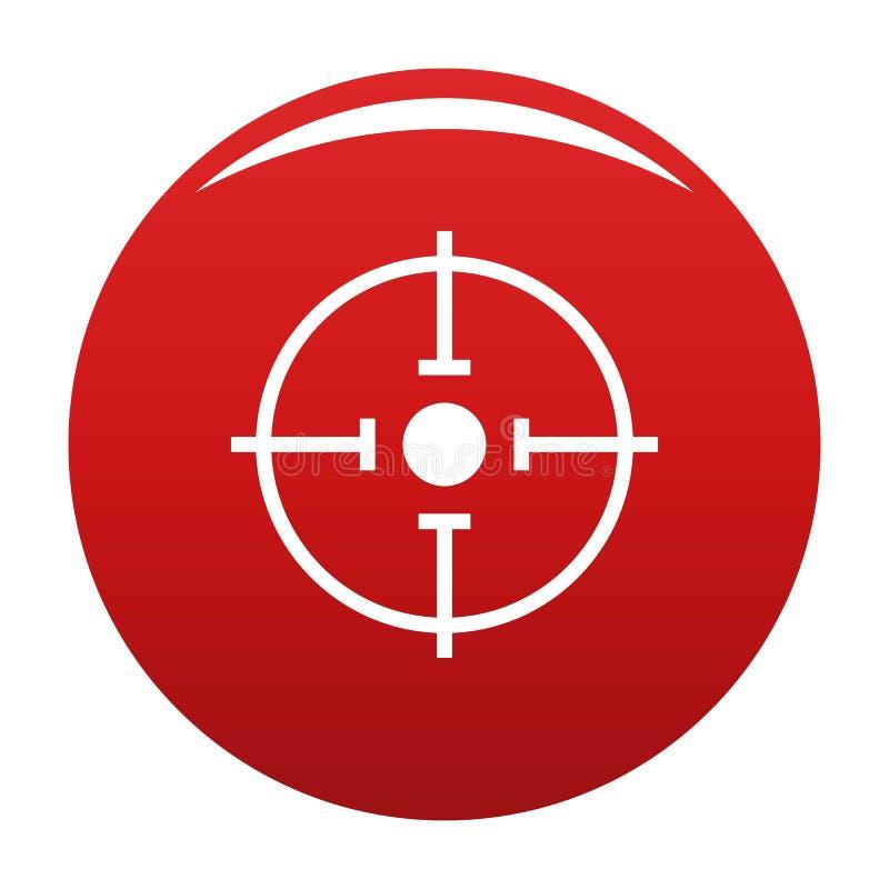 Rojo importante del vector del icono de la blanco ilustración del vector