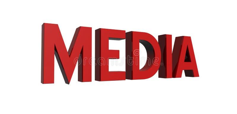 Rojo-media stock de ilustración
