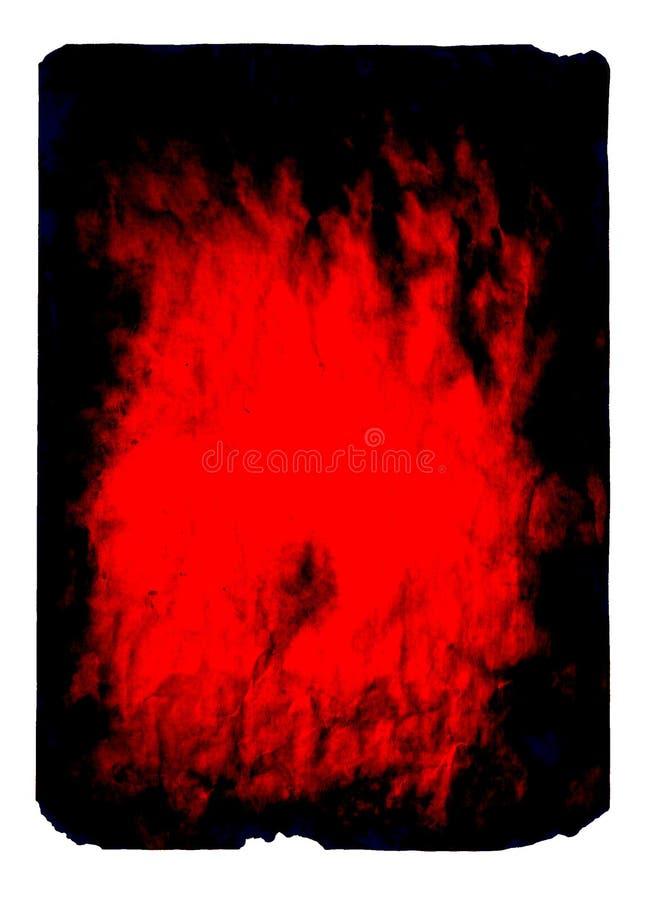 Rojo-negro-papel ilustración del vector