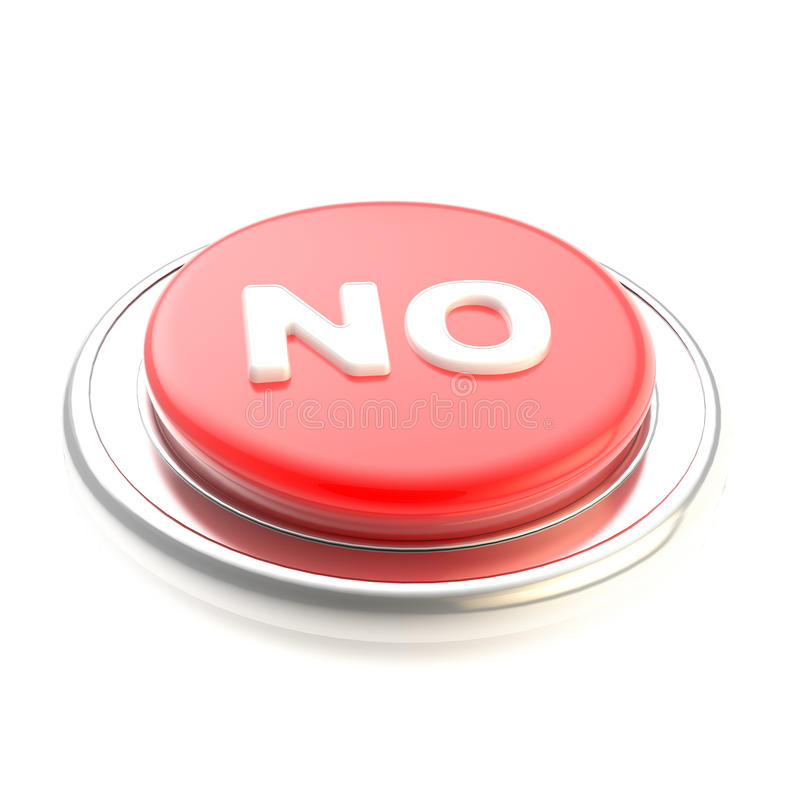 Rojo ningún botón brillante   libre illustration