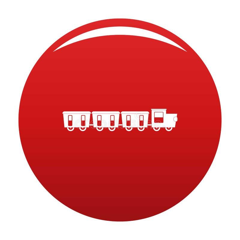 Rojo reservado del vector del icono de los carros ilustración del vector