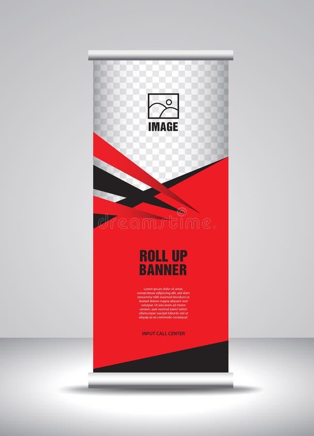 Rojo ruede para arriba el vector de la plantilla de la bandera, bandera, soporte, dise?o de la exposici?n, anuncio, levantan, x-b libre illustration