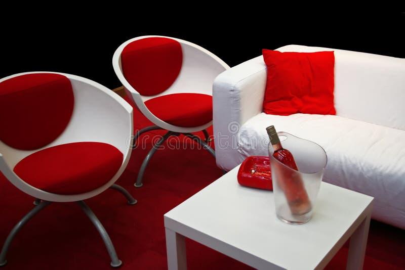 Rojo y blanco imagenes de archivo