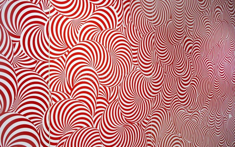 Rojo y blanco abstractos radiales del modelo imágenes de archivo libres de regalías