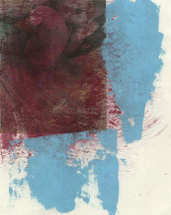 Rojo y ciánico abstractos ilustración del vector