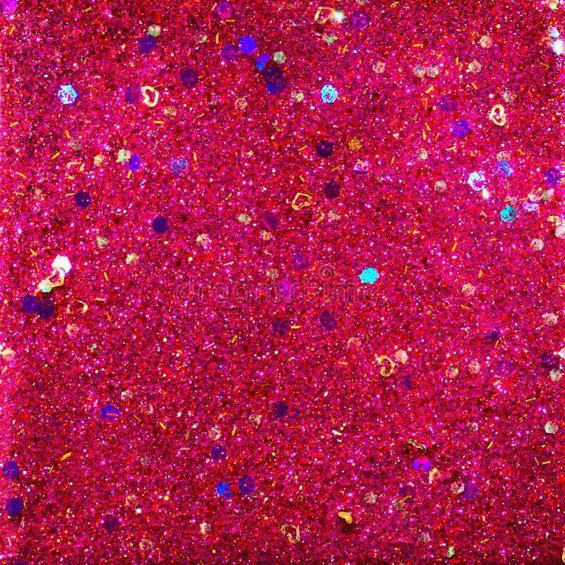 Rojo y extracto púrpura del brillo imágenes de archivo libres de regalías