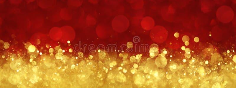Rojo y fondo abstracto de la Navidad del oro fotografía de archivo libre de regalías