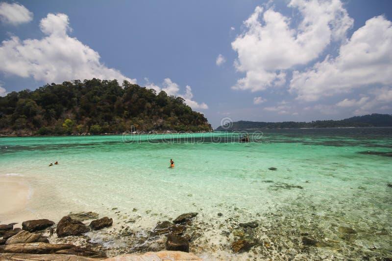 Rok罗伊海岛,酸值Rok罗伊, Satun,泰国 免版税库存图片