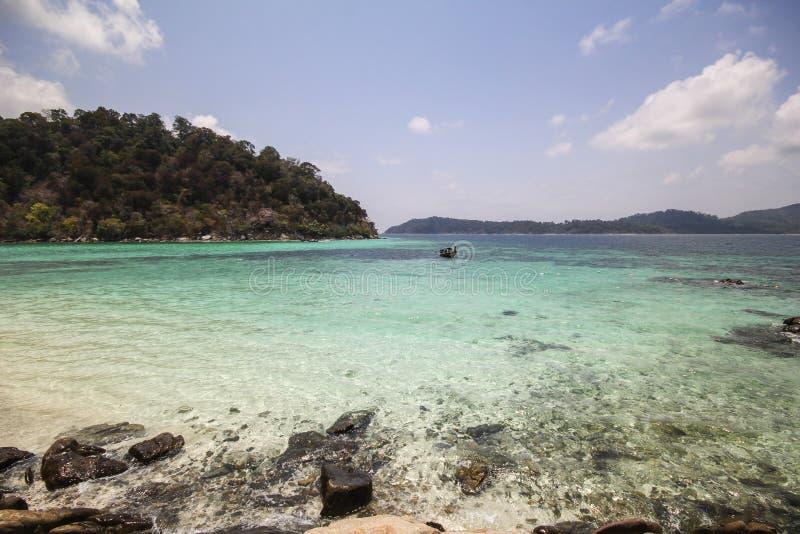 Rok罗伊海岛,酸值Rok罗伊, Satun,泰国 免版税库存照片