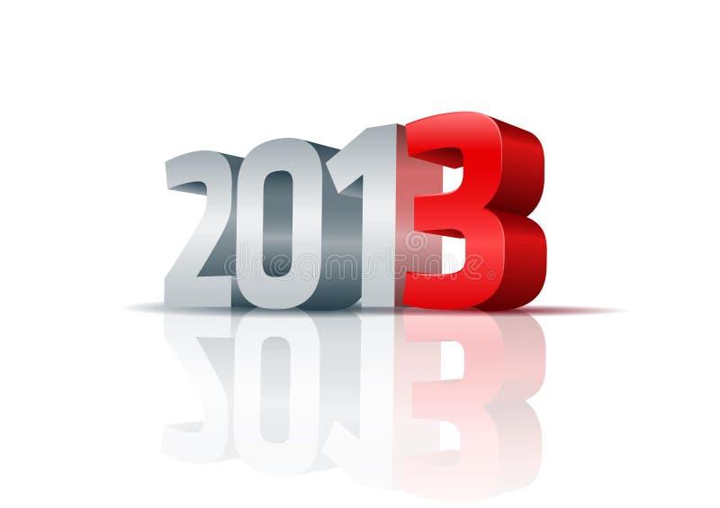 Rok 2013 royalty ilustracja