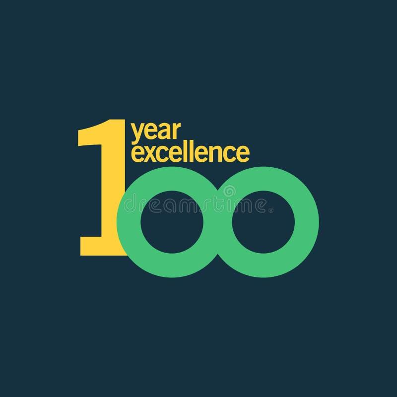 100 rok doborowość szablonu projekta Wektorowa ilustracja ilustracji