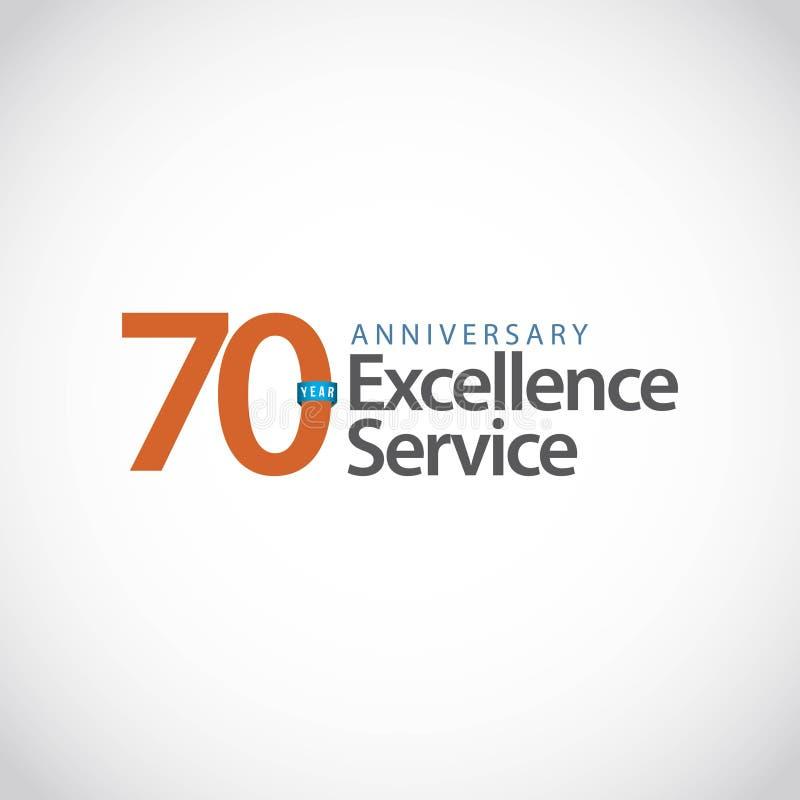 70 rok doborowości Rocznicowej usługi szablonu projekta Wektorowa ilustracja zdjęcie stock