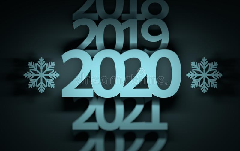 Rok ewolucja liczy 2019 2020 2021 ilustracja wektor