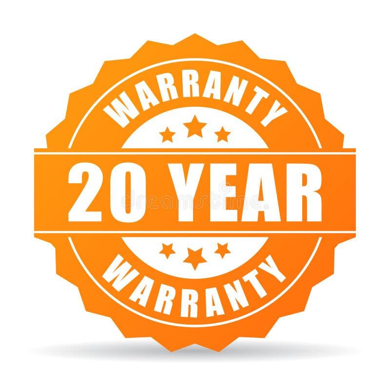 20 rok gwaranci ikona ilustracji