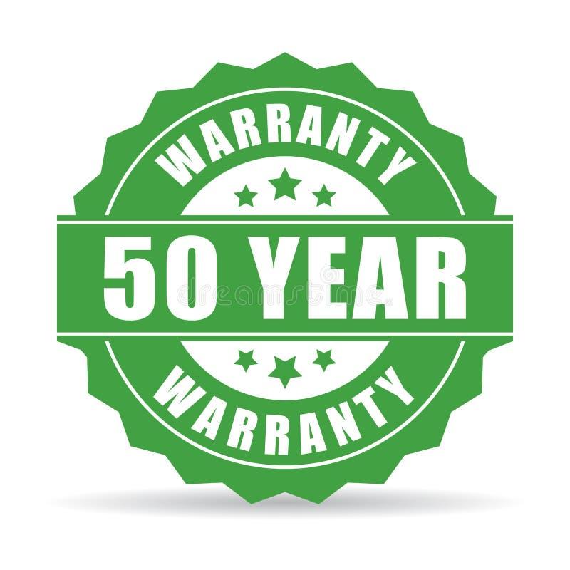 50 rok gwaranci ikona ilustracji