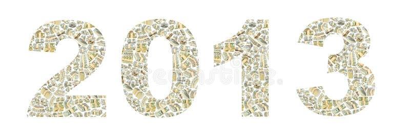 Rok od dolarów 2013 zdjęcie royalty free