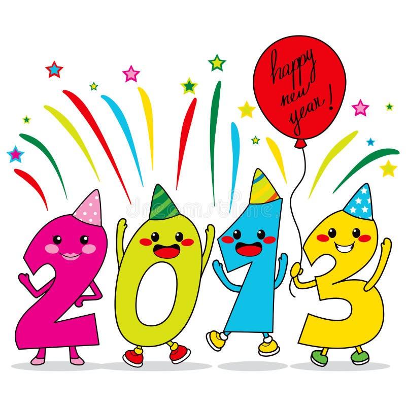 Rok Przyjęcie 2013 ilustracji